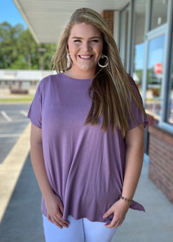 Anything But Basic Lavender Plus Size Top-Shop-Womens-Boutique-Clothing