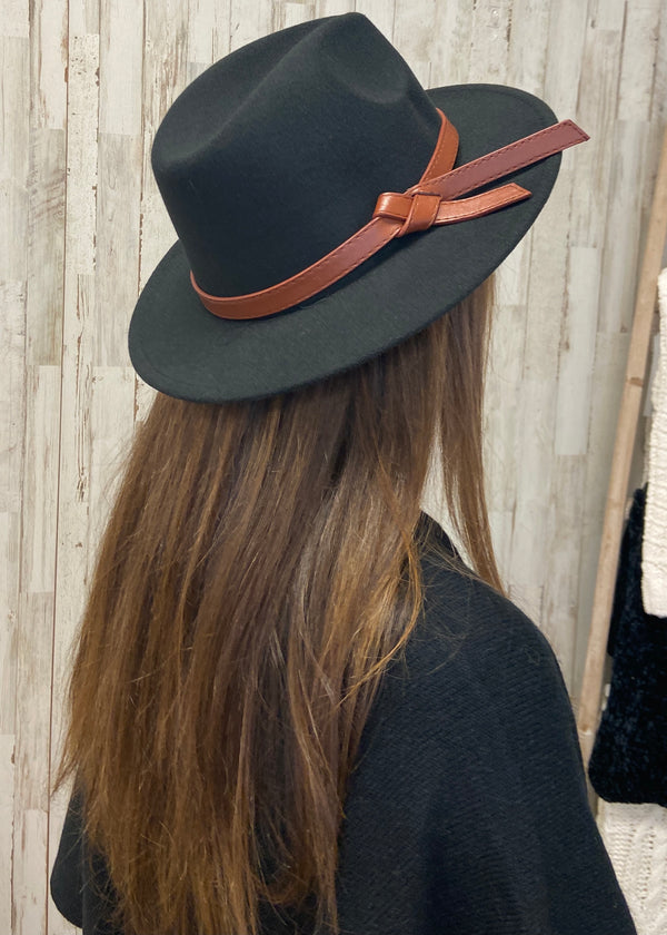 Straight Ahead Black Band Hat-Regular-Shop-Womens-Boutique-Clothing