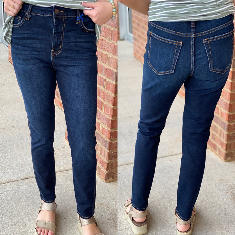 High Rise Mom Fit Skinny Jeans-Shop-Womens-Boutique-Clothing