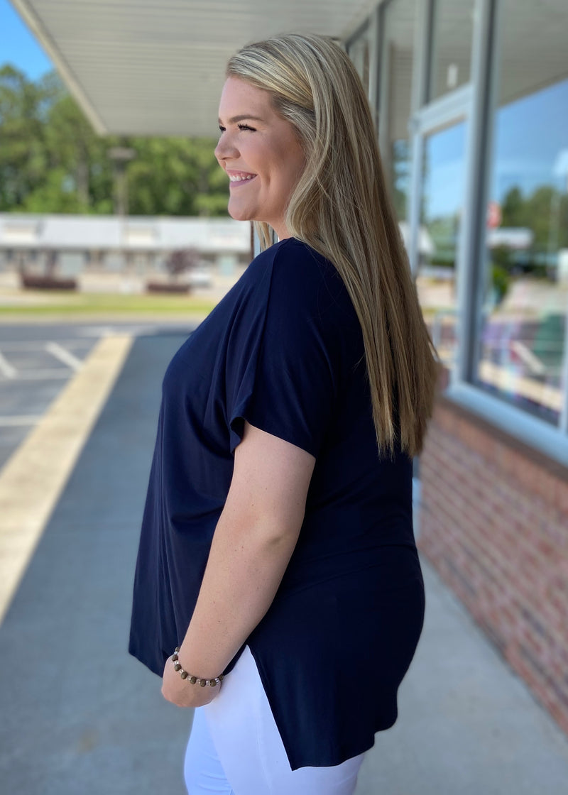 Anything But Basic Navy Plus Size Top-Shop-Womens-Boutique-Clothing
