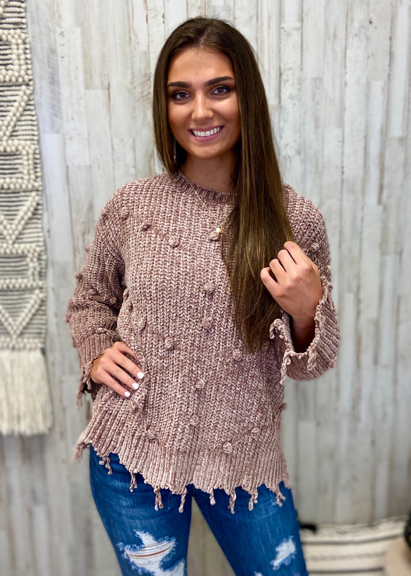 Cozy Up Taupe Velvet Sweater-Shop-Womens-Boutique-Clothing