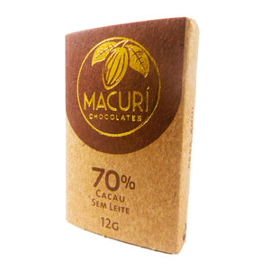 Kit com 3 Barrinhas de Chocolate Macurí com 70% de cacau (12g cada)