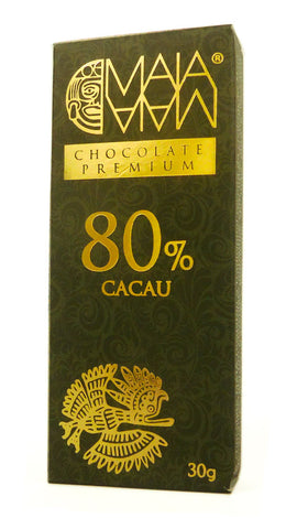 Barrinha de Chocolate Maia com 80% de cacau (30g)