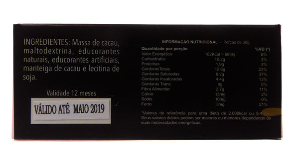 Barrinha de Chocolate Maltez DIET com 70% de cacau (30g)