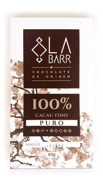 Barra de Chocolate LaBarr 100% cacau (80g)