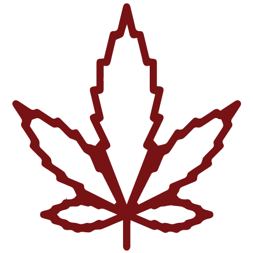 Hemp Leaf Red