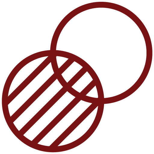 Overlapping Circles Red
