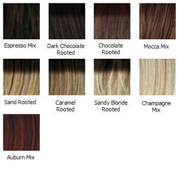 Fortune Wig Colour Chart