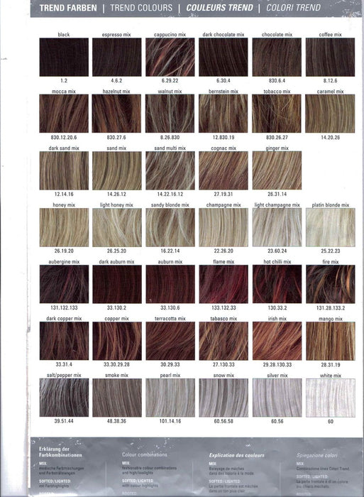 Liza Small colour chart