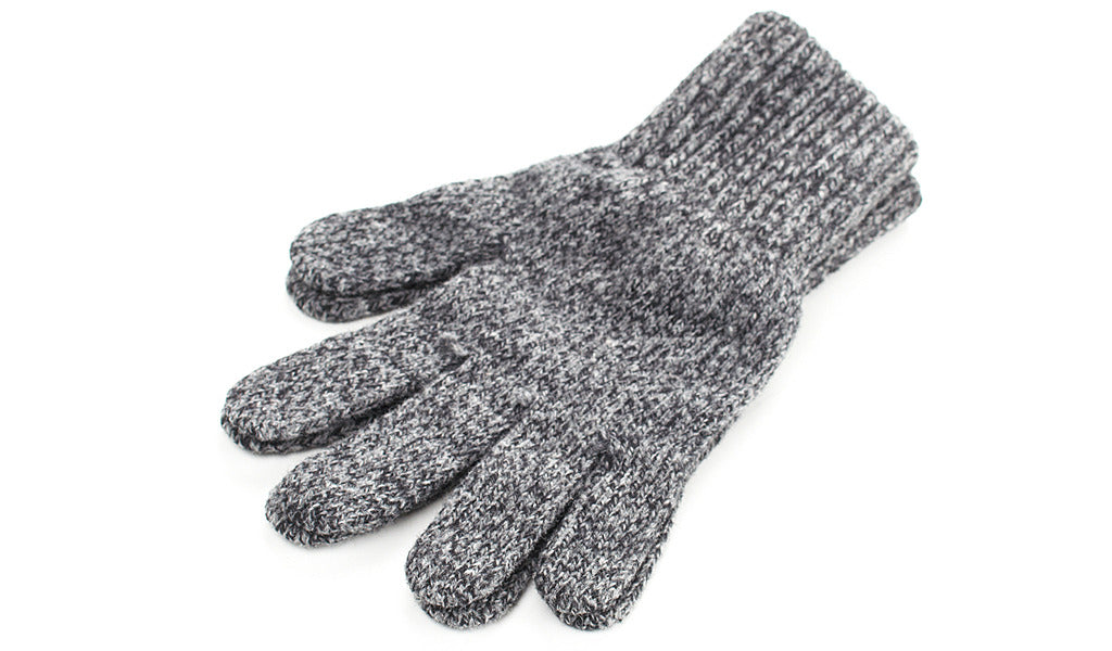 Heather Gray Wool Gloves