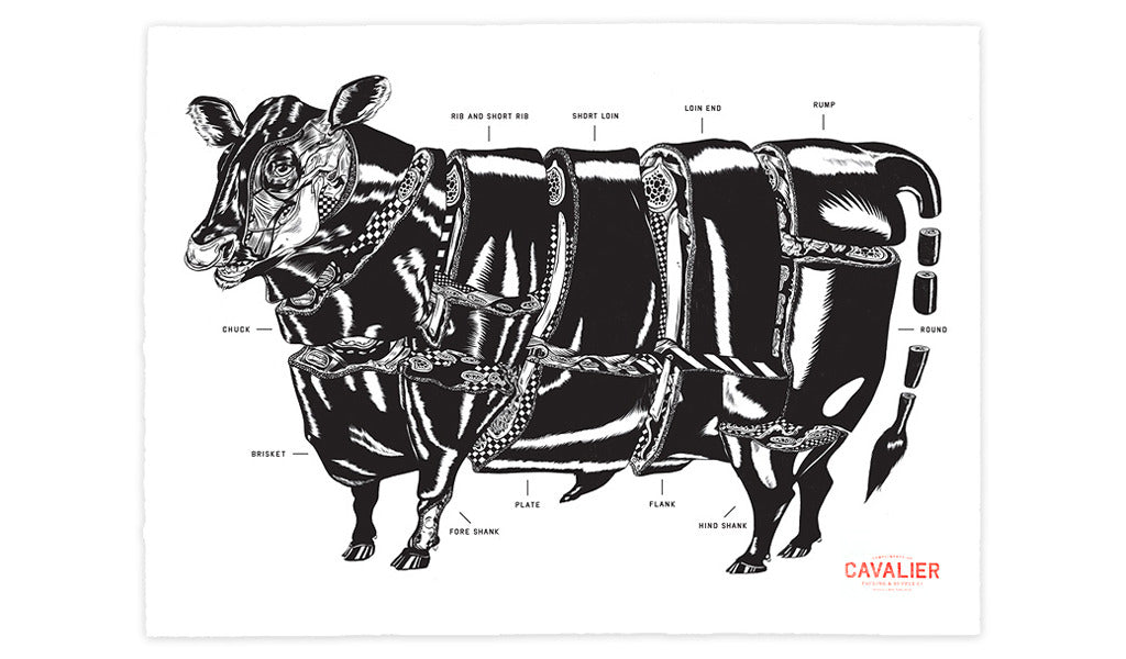 Original Butcher's Screenprint