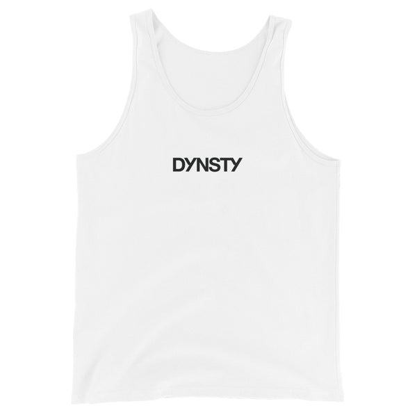 Dynsty Unisex Cotton Tank Top (White)