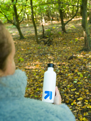 Reusable White 'Connection' 500ml Water Bottle