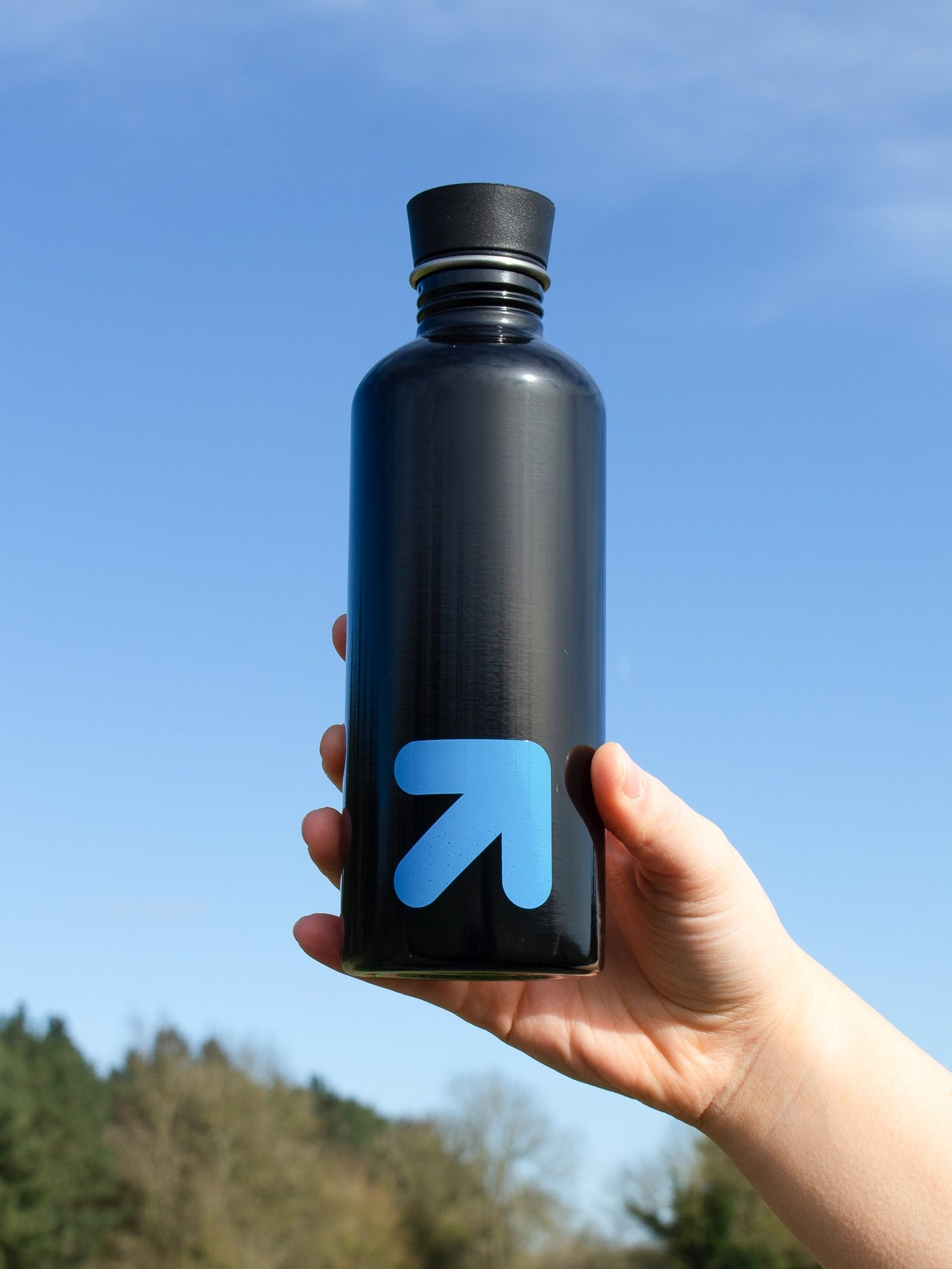 "Reusable Black ""Connection"" 500ml Water Bottle"