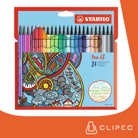 Marcadores Pen 68 Pack 24 colores