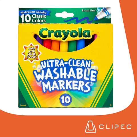 CRAYOLA Washable Markers x 10 colores