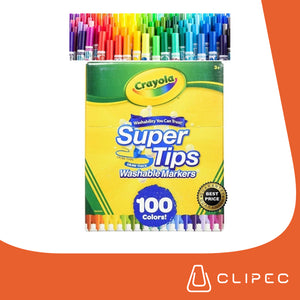 CRAYOLA SUPERTIPS WASHABLE MARKERS - 100 COLORS