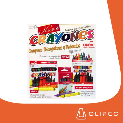 Crayones UNIK Triangular x 12 Colores