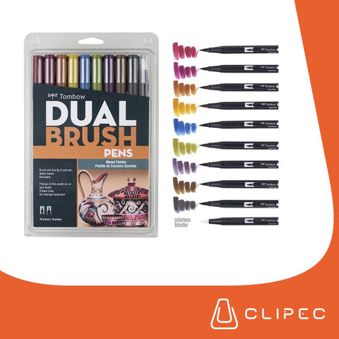 Tombow - Dual Brush - MUTED PALETTE