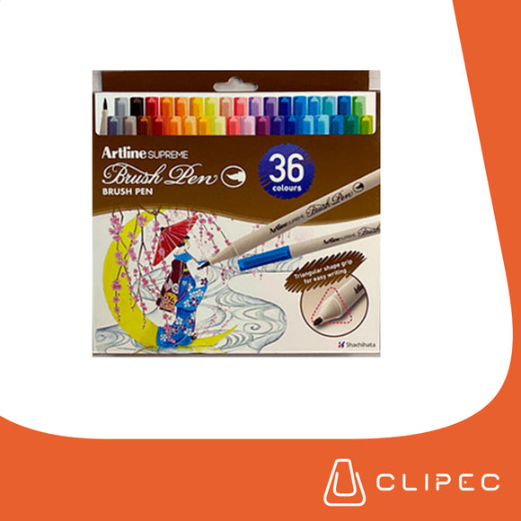 ARTLINE SUPREME BRUSH PENS - SET 36 COLORES