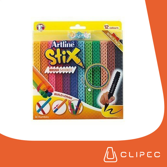 ARTLINE STIX BRUSH MARKER - SET 12 COLORES