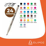 ARTLINE SUPREME BRUSH MARKER - SET 24 COLORES