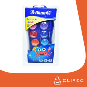 ACUARELAS PELIKAN JUNIOR - SET DE 12 COLORES