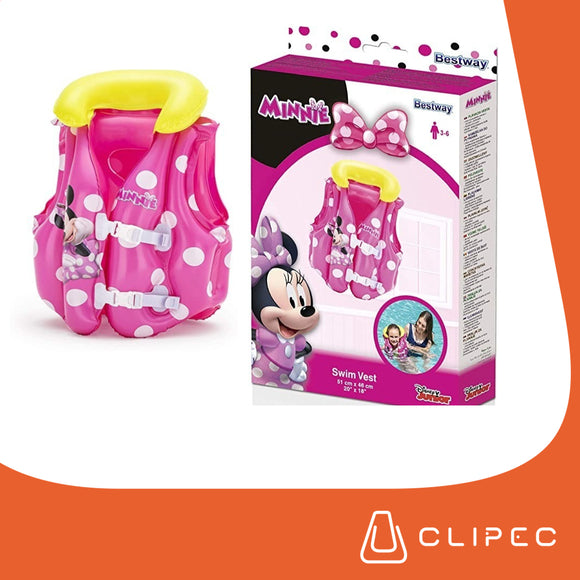 CHALECO INFLABLE MINIE MOUSE.