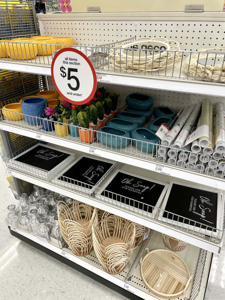 The Target Dollar Spot is always changing up their selection with new seasonal decor, crafts, toys, & party-ware that pops up often! Check out the latest finds.
