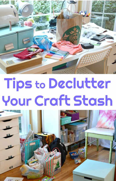 "Let's be honest, if you're a crafter, hearing ""declutter craft stash"" makes your heart sink and pound at the same time"