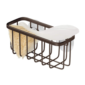 InterDesign Gia Suction Kitchen Sink Caddy, Sponge Holder for Kitchen