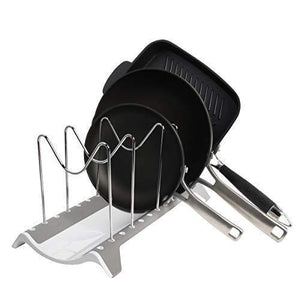 Shop here domajax dish drying rack pot rack pots drying rack pot lid organizer for kitchen counter sink cabinet