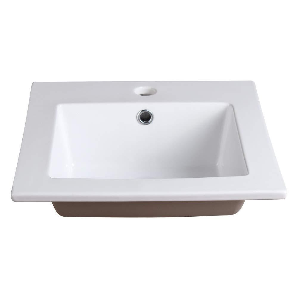 Results fresca allier 16 white integrated sink with countertop