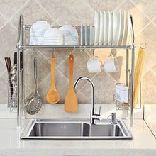 Load image into Gallery viewer, Save on 1208s stainless steel over sink drying rack dish drainer rack kitchen organizer single groove single layer