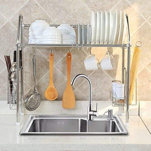 Save on 1208s stainless steel over sink drying rack dish drainer rack kitchen organizer single groove single layer