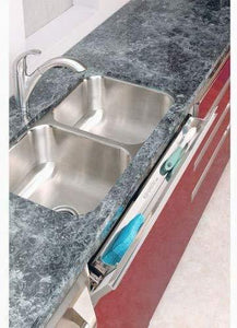 The best rev a shelf 6581 series stainless steel sink front tray 11 5 w x 2 125 d x 3 h