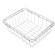Load image into Gallery viewer, Save jinpai stainless steel kitchen sink rack drain basket retractable fruit and vegetable dishes storage basket drain rack