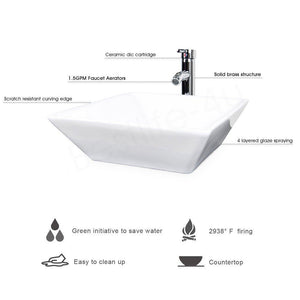 Featured u eway 13 inch white bathroom vanity and sink combo 1 5 gpm water save faucet solid brass pop up drain single small bathroom adjustable built in clapboard bt8w a7