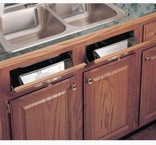 Storage rev a shelf 6581 series stainless steel sink front tray 11 5 w x 2 125 d x 3 h