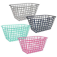 Load image into Gallery viewer, Organize with pantry organization and storage plastic baskets with handle toy organizer for shelves wicker colorful under shelf for organizing kitchen sink organizer book bins for classroom library muilticolor