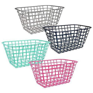 Organize with pantry organization and storage plastic baskets with handle toy organizer for shelves wicker colorful under shelf for organizing kitchen sink organizer book bins for classroom library muilticolor