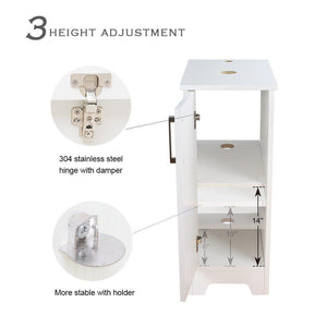 Heavy duty u eway 13 inch white bathroom vanity and sink combo 1 5 gpm water save faucet solid brass pop up drain single small bathroom adjustable built in clapboard bt8w a7