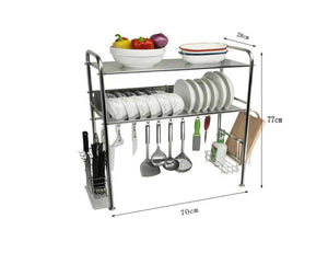 Storage organizer dqmsb kitchen racks 304 stainless steel dish rack sink drain rack kitchen supplies storage rack dishes shelf knife rack drying rack