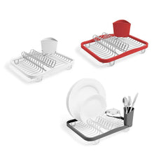 Load image into Gallery viewer, Try lpz separate dish rack dishware shelf kitchen sink rack storage simple drain cold dish rack home lpzv color white
