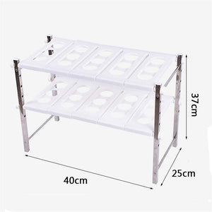 Best stainless steel adjustable scalable kitchen bathroom lower sink shelf storage organizer protector shelf interior