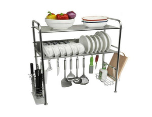 Storage dqmsb kitchen racks 304 stainless steel dish rack sink drain rack kitchen supplies storage rack dishes shelf knife rack drying rack