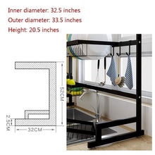 Load image into Gallery viewer, On amazon gmwsqj dish drying rack over sink display stand drainer stainless steel kitchen supplies storage shelf utensils holder black
