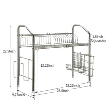 Load image into Gallery viewer, Results 1208s stainless steel over sink drying rack dish drainer rack kitchen organizer single groove single layer