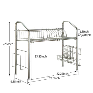 Results 1208s stainless steel over sink drying rack dish drainer rack kitchen organizer single groove single layer