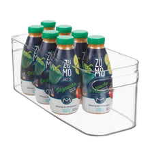 Load image into Gallery viewer, Organize with mdesign plastic kitchen under sink refrigerator or freezer food storage bin with handles organizer for fruit yogurt snacks pasta food safe bpa free 4 pack clear